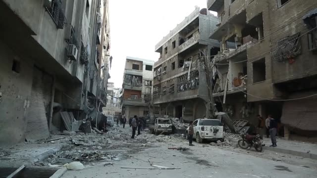 Shelling by the Syrian regime on the rebel held area of Eastern Ghouta near Damascus Friday killed at least 10 civilians among them six children a...