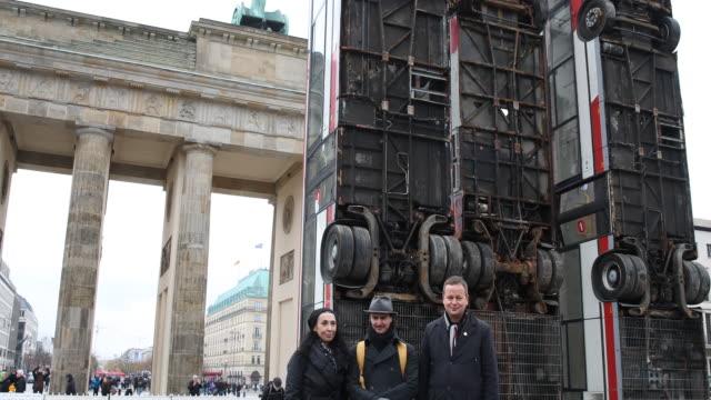 Shermin Langhoff Intendant of the Maxim Gorky Theater GermanSyrian artist Manaf Halbouni Dr Klaus Lederer Cultural and European Senator of Berlin...