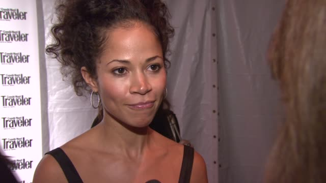 Sherri Saum wearing a vintage dress on her travel obsession and why her favorite vacation was in Greece at the Conde Nast Traveler Celebrates 20...
