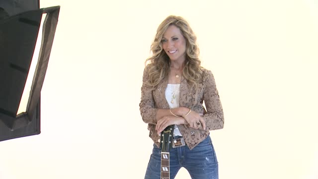 Sheryl Crow at Sheryl Crow Releases New Album 'Feels Like Home' On September 10 Behind The Scenes at Splashlight Studios on August 23 2013 in New...