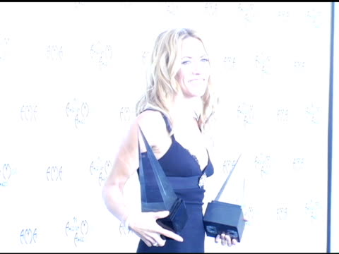 Sheryl Crow double winner for Adult Contemporary and Pop/Rock Favorite Female Artist at the 2004 American Music Awards press room at the Shrine...