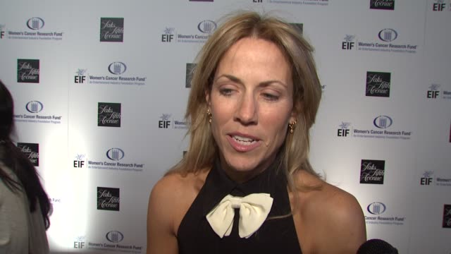 Sheryl Crow on being a part of the night the work that EIF's Women's Cancer Research Fund does Gwyneth Paltrow Courteney CoxArquette's dedication to...