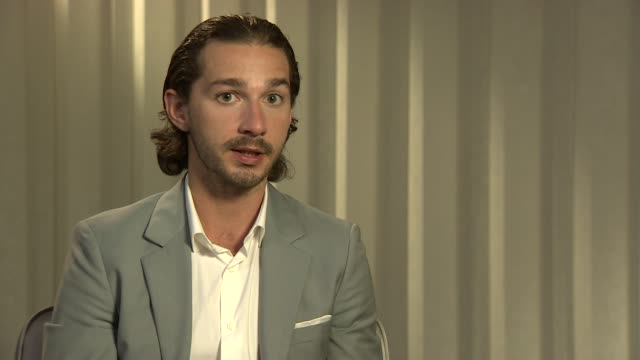 Shia LaBeouf on the art of filming Gary Oldman his journey to Hollywood being on set at Lawless Interviews 65th Cannes Film Festival on May 20 2012...