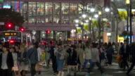 Shibuya streets at night