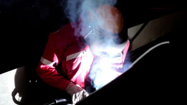 Abgeschirmter Bogen Metall Schweißer -, Werft, Saigon, Vietnam