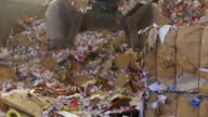 Shifting Cardboard Waste In A Recycling Center