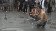 Shi'ite Muslims flagellate themselves in Kabul Afghanistan on October 24 2015 during the mourning ceremony held within Muharram month known as the...