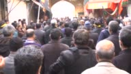 Shi'ite people gather at Imam Hussein square during the Arba'een ceremony in Tehran Iran on 13 December 2014 Hundreds of Shiite worshippers attend...