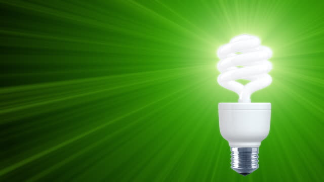 Shine of Compact Fluorescent Light Bulb (HD1080) Right