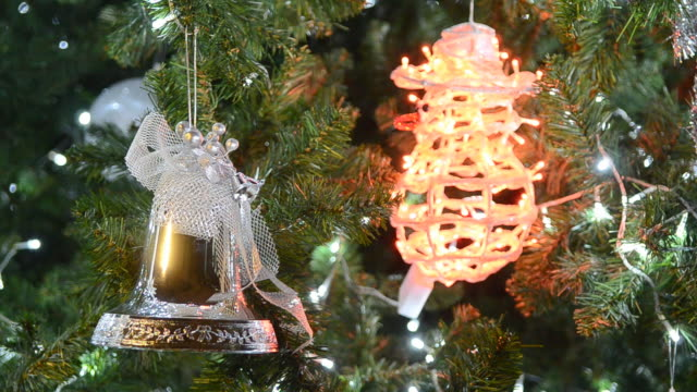 Shining decoration on christmas tree