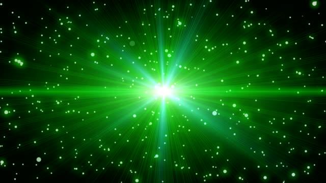 Leuchtende Stern in Teilchen Raum