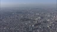 Shinjuku; central Tokyo; aerial shots