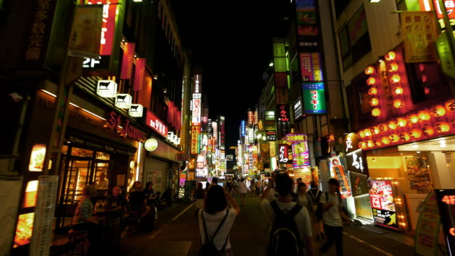 Shinjuku Kabukicho hyper lapse at night