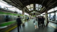 Shinjuku Station Platform - Panning Timelapse