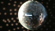 Shiny disco ball turning
