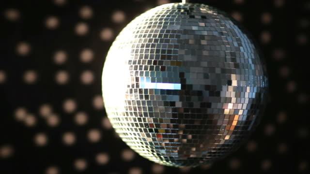 Shiny disco ball turning