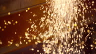 SLO MO LD Shiny metal sparks