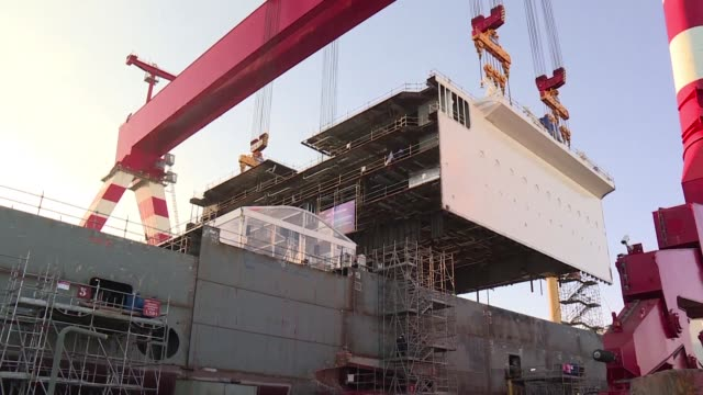 Shipmakers STX France on Wednesday kicked off the contruction of the MSC Grandiosa the largest European cruise liner ever built at the Saint Nazaire...