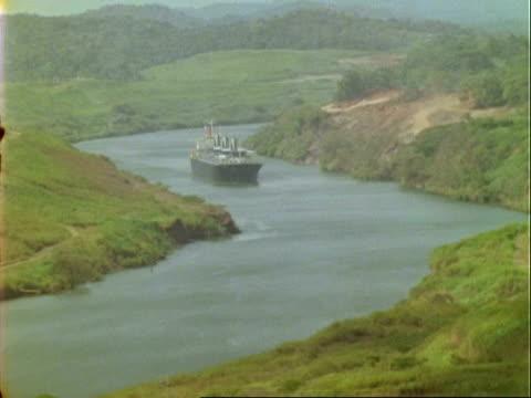 T/L ships on Panama canal, WA, Panama.
