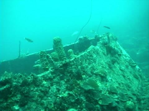 CU, Shipwreck on sea floor, Barbados