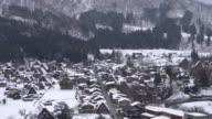 Shirakawago Villaggio e neve