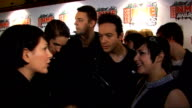Shockwaves NME Awards 2009 Luke Pritchard speaking to press Glasvegas interview SOT I've not really thought about it I don't really plan bad...