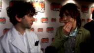 Shockwaves NME Awards 2009 MGMT interview SOT On being up for three awards but they want to win Best Track least because they won it last year they...