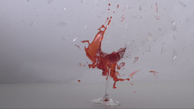 Shooting on a glass of red wine
