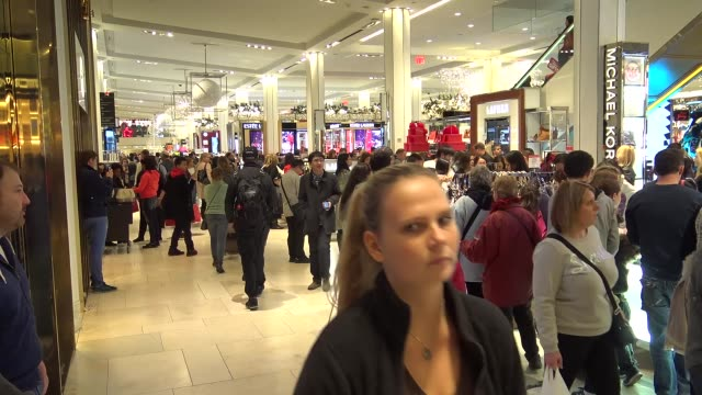 Shoppers at the Herald Square Macy's Department Store during Black Friday / Midtown Manhattan Herald Square New York City USA