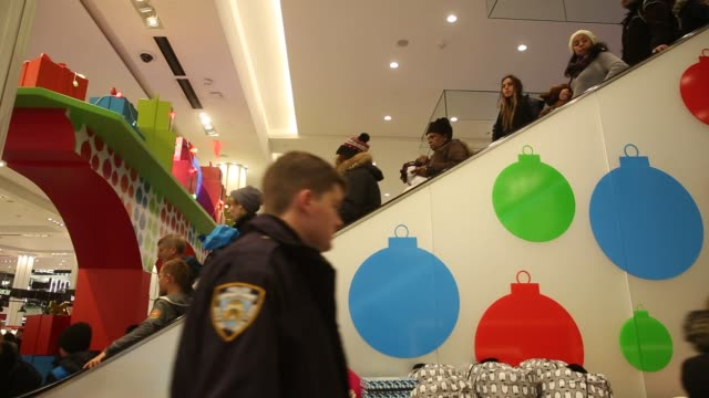 Shoppers hunt for last minute gifts at the Macy's flagship store on 34th St in New York NY Wednesday December 21 2016 Shots wide interior of store...