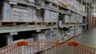 MS POV Shopping cart moving through aisles of retail store / Atlanta, Georgia, USA