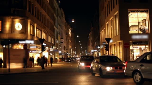 Shopping in der Nacht-timelapse