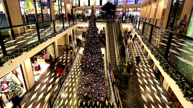 Shopping Mall at Christmas Time