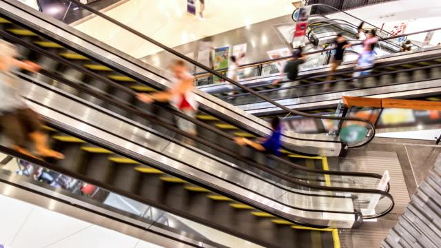 Shopping Mall Escalator TIMELAPSE