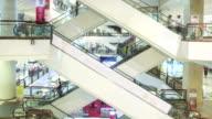 Shopping Mall Escalator,Time Lapse