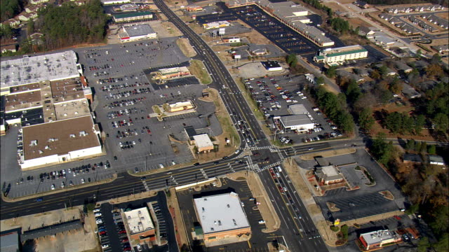 Shopping Malls On Way To Milledgeville  - Aerial View - Georgia,  Baldwin County,  United States