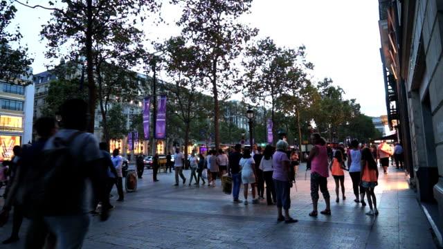 Shopping on Avenue des Champs Elysees, Paris France