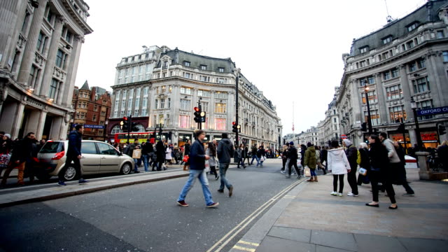 shopping on Oxford street, London, England