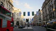 4K Shopping on Oxford street, London, time lapse