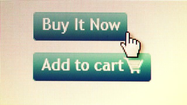 Einkaufen im Internet.