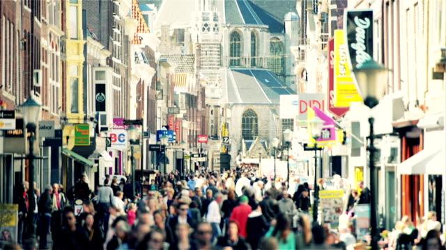 Shopping street in western Europe