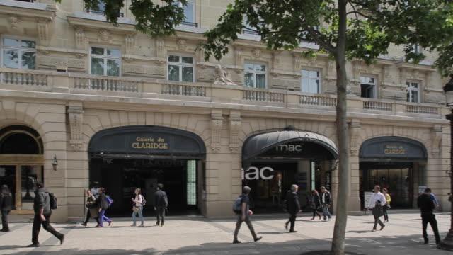 Shops on Avenue des Champs Elysees, Paris, France, Europe