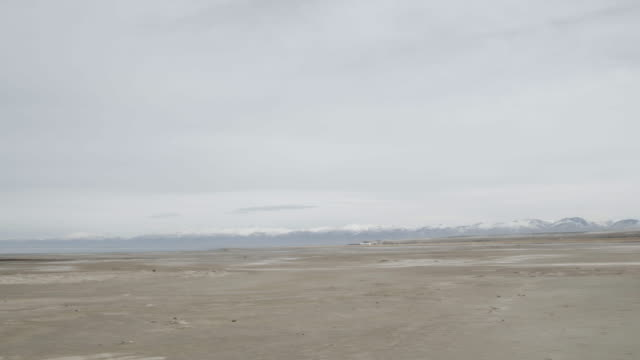 Shores of Great Salt Lake, pan left