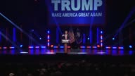 A short reel of Donald Trump moments at a rally in Greenville South Carolina
