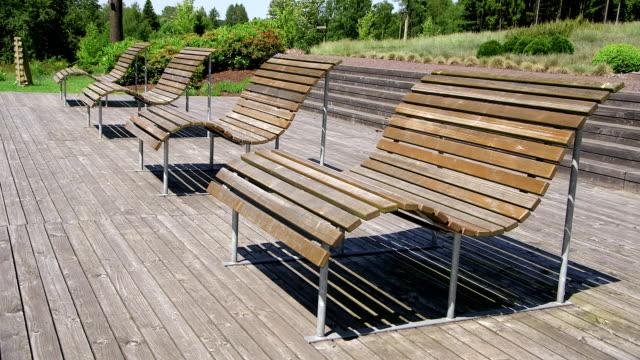 MS Shot empty benches in park / Losheim, Saarland, Germany