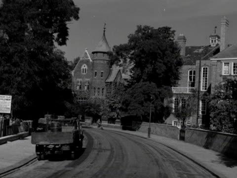 POV shot moving along an elegant street in the Kensington area of London