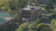MS AERIAL Shot of 16th Street Baptist Church / Birmingham, Alabama, United States