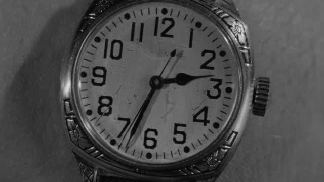 ECU Shot of a man's wrist watch