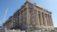 MS LA Shot of Akropolis / Athen, Greece