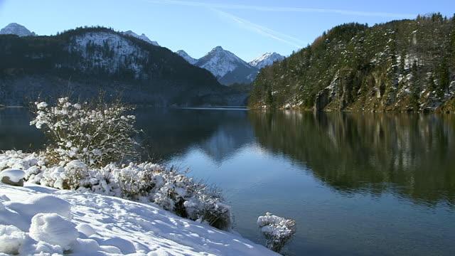WS Shot of Alpsee, Hohenschwangau near Fussen / Hohenschwangau, Bavaria, Germany